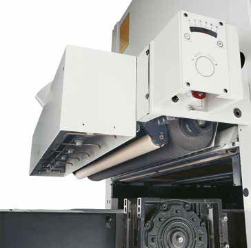 Вращающиеся сопла в автоматическом широколенточном калибровально-шлифовальном станке SCM (Италия), модель DMC SD