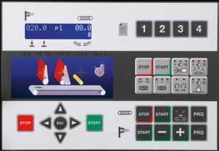 Электронный программатор LOGIC SC в автоматическом широколенточном калибровально-шлифовальном станке SCM (Италия), модель DMC SD