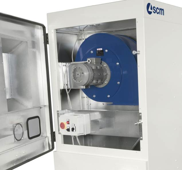 Система автоматической очистки фильтров в аспирационных установках SCM (Италия) серии Formula VF